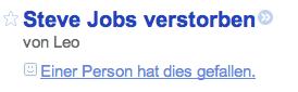 Steve Jobs verstorben