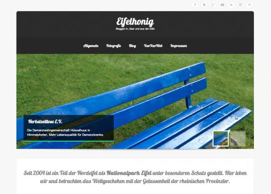 Screenshot von eifelhonig.info